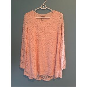 Pink Lace Forever 21 Tunic
